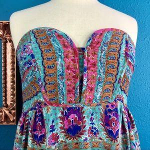 Anthropologie Dresses - Anthro Maple silk floral paisley print dress, 6